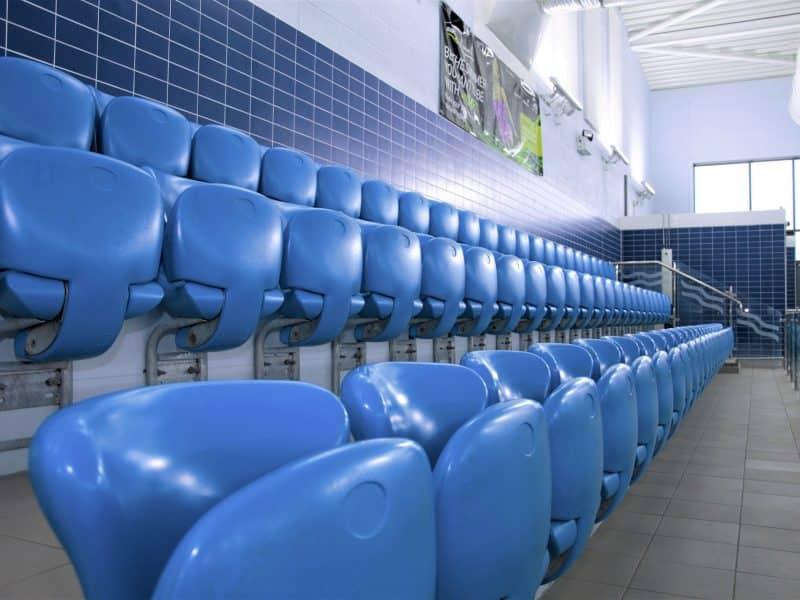 poolside spectator seating